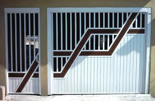 Portão Tubular Madeira EP-206